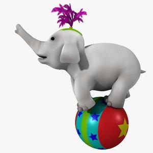 3d cartoon baby elephant