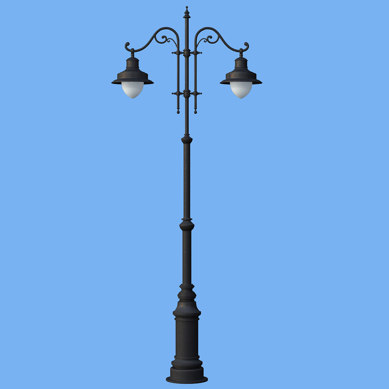 realistic streetlight 3ds