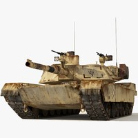 Abrams Tank Low-Poly 2