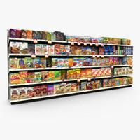 3d grocery - model