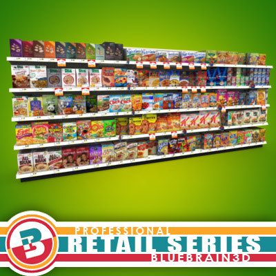 Grocery - Shelves - Cereals 01