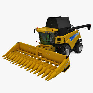 new holland cr9000 twin 3d model