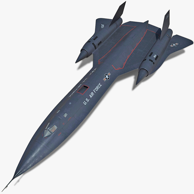 3d sr-71 blackbird