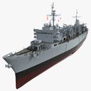 Fast Combat Support Ship 3D models