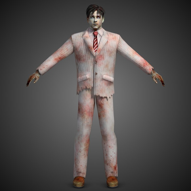 3ds max zombie man
