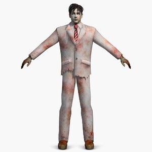 3ds max zombie man