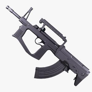 assault rifle a-91 russia 3d max