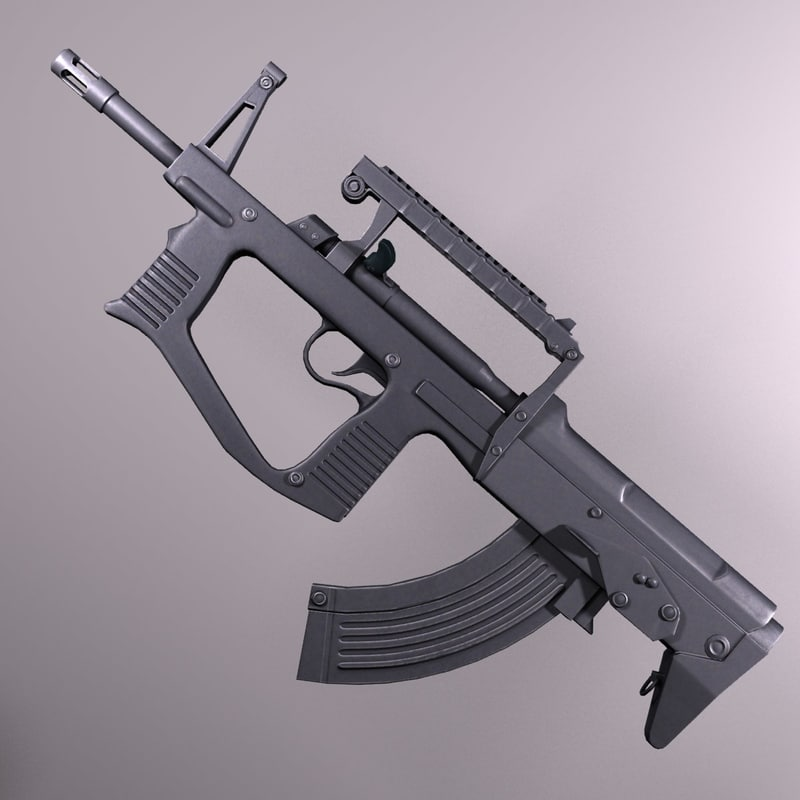 assault rifle a-91 russia 3d max