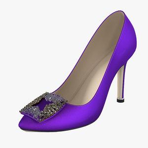 3d classic lady shoes