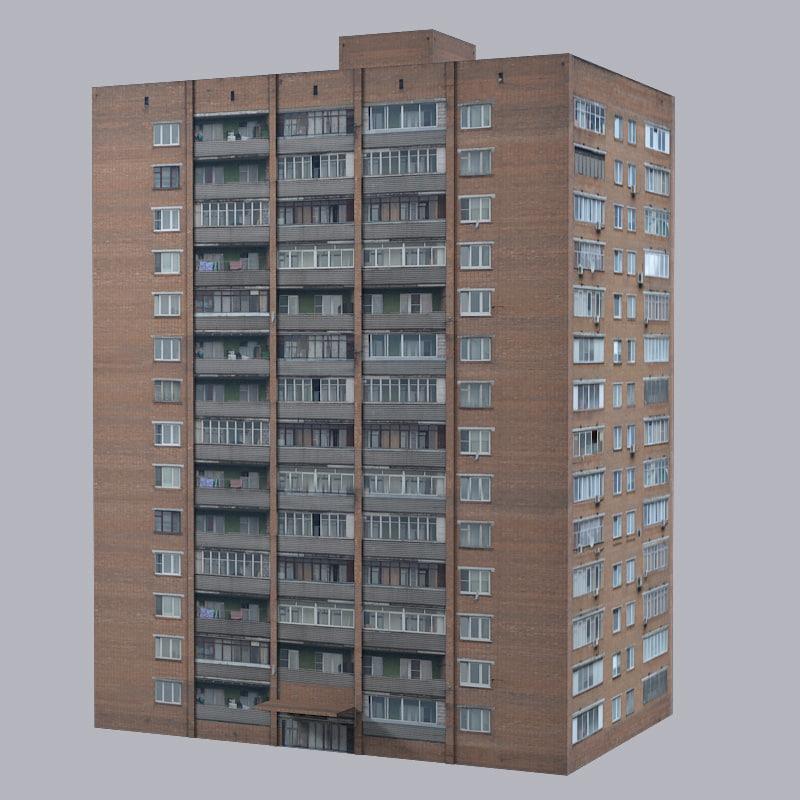 3ds city brick building