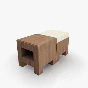 3dsmax small chair