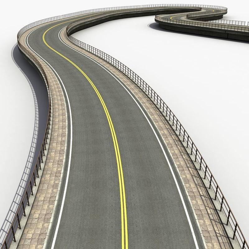 road set modelled 3d model