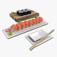 3d model sushi roll