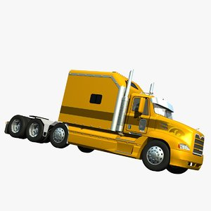 3d truck mack ari sleeper model
