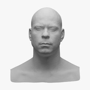 3d model scan head
