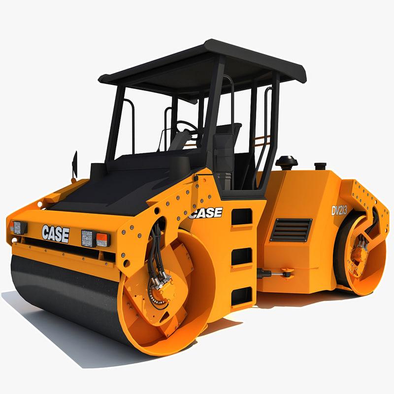 asphalt compactor case 3d model