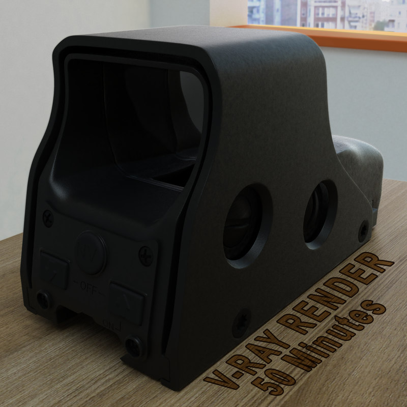 3ds max holographic sight