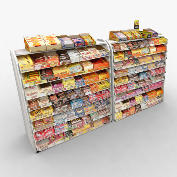 3d model of display candy