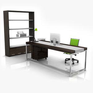 obj modern office set 01