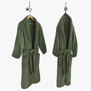 green bathrobe hanger hook 3d max