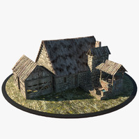 3dsmax medieval blacksmith house
