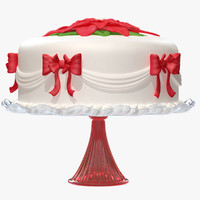 3d decorated holiday cake model