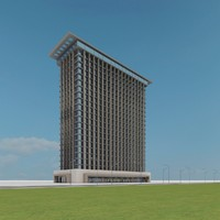 new skyscraper 07 3d model