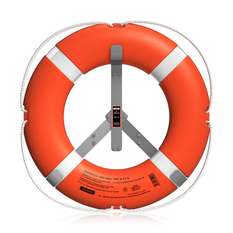 3d model life buoy