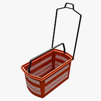 3d model supermarket shopping basket v2
