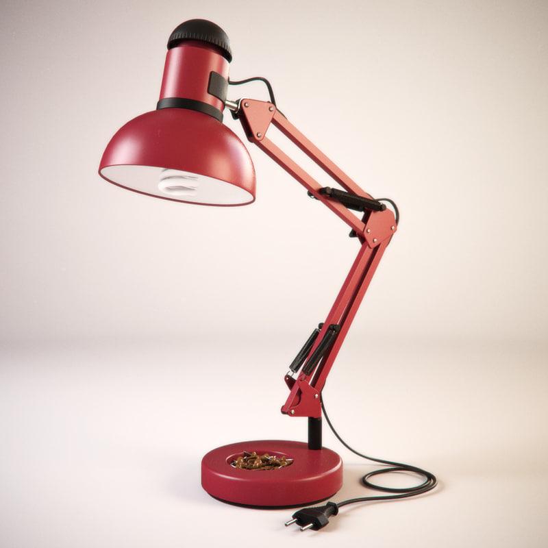 table lamp hinge bulb lighting 3d model