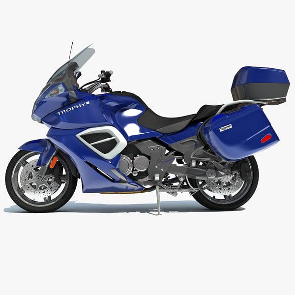 triumph trophy se motorcycle 3d model