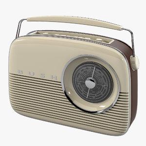 3ds max bush retro radio