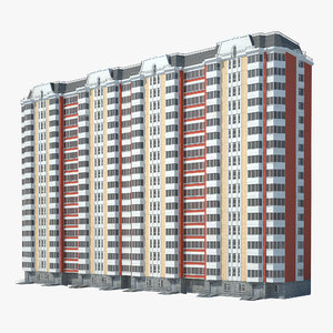 3d p-44 t moscow building model