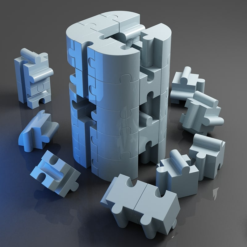 jigsaw puzzle building blocks 3d max