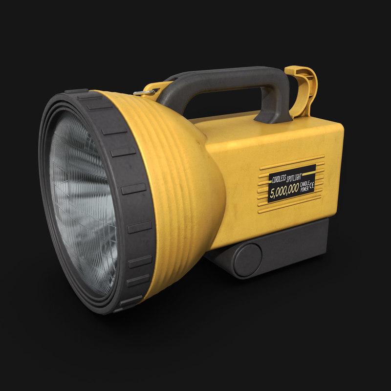 3d model spotlight torch lighting