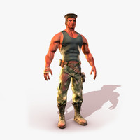 3ds max military man