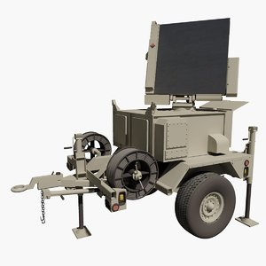 military raytheon mpq64 sentinel 3d max