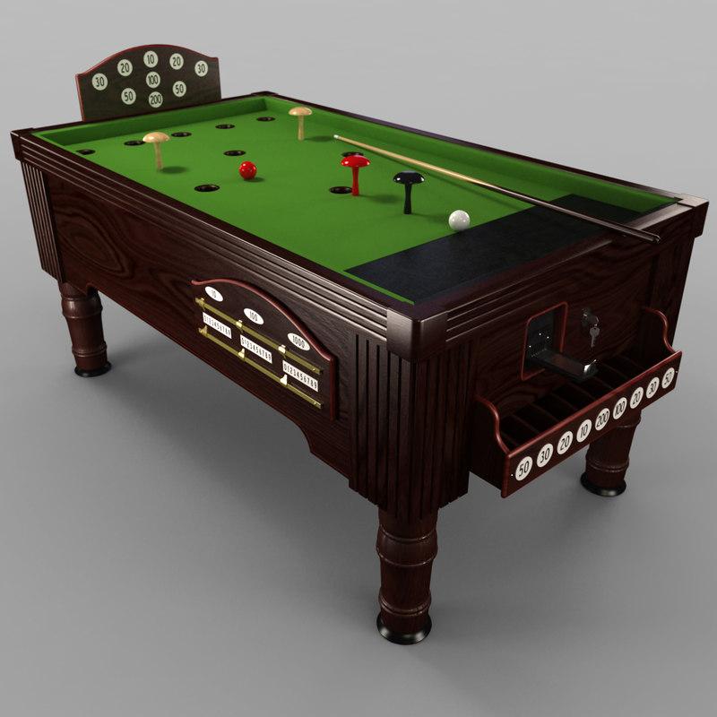 3ds max bar billiard table