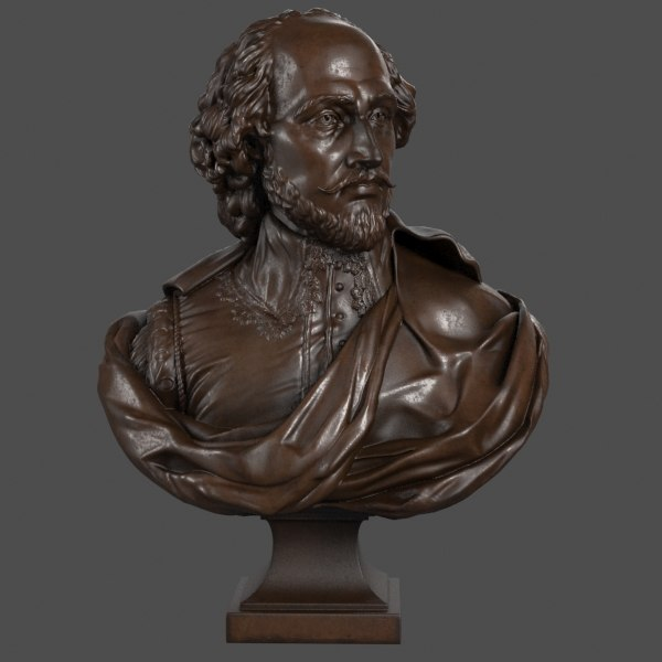 decorative bust shakespeare max
