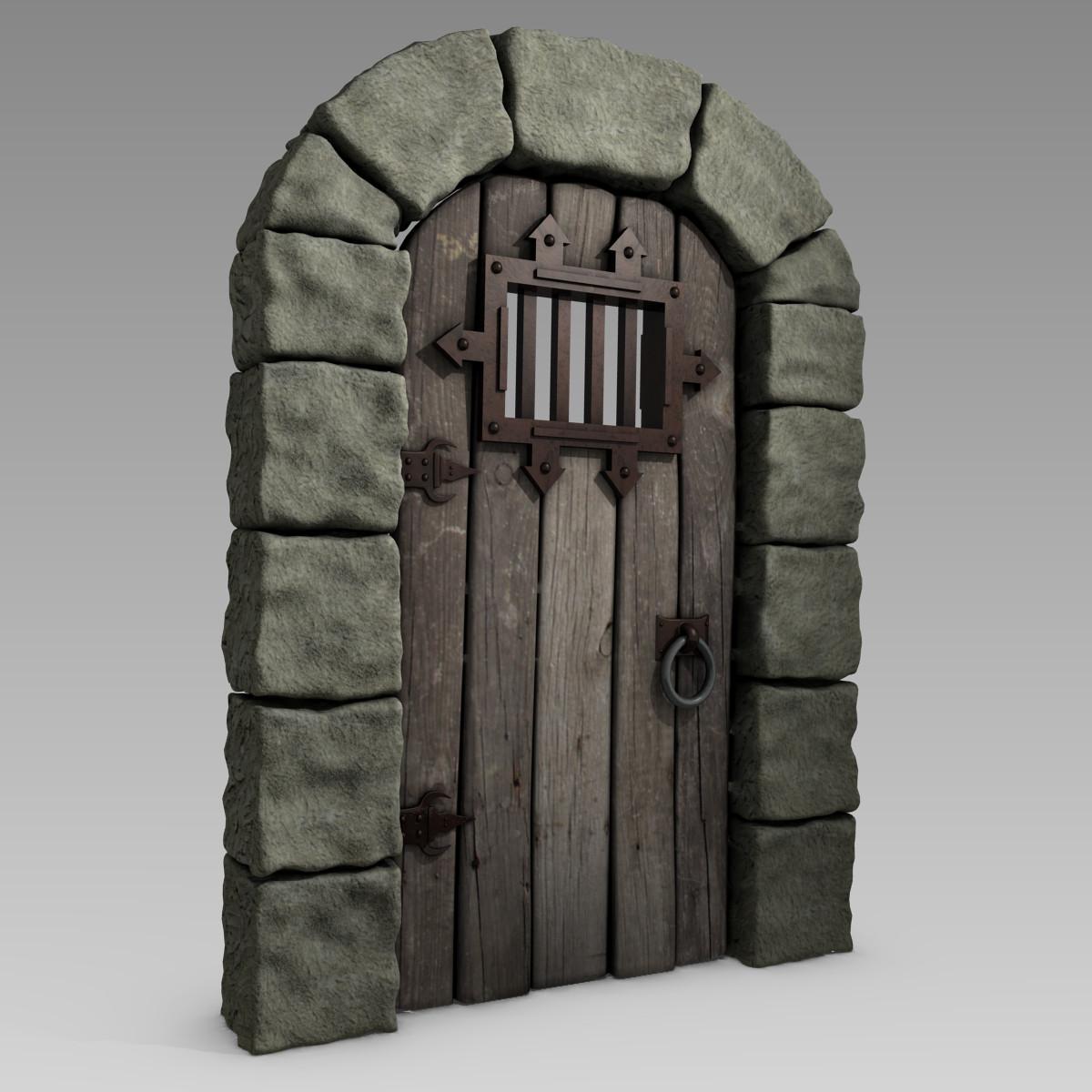 3d model medieval castle door arch for Door 3d model