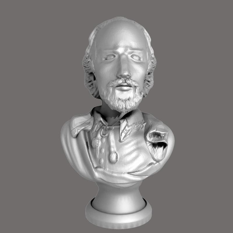 william shakespeare bust max