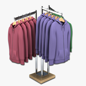 clothing rack womens hoodie 3d max