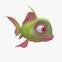 cartoon fish 3d model