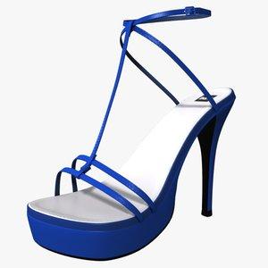 3d obj heel shoes female
