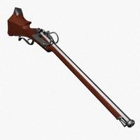 3ds max arquebus rifle gun