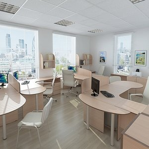 3d model office design furniture
