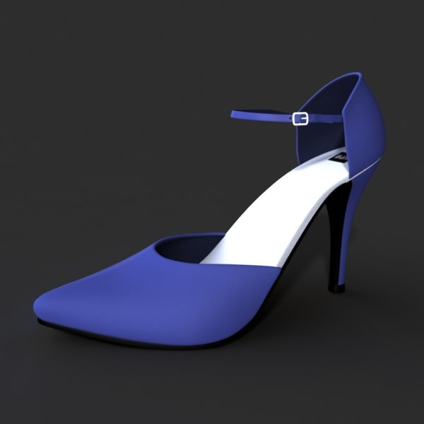 3d model heel shoes female