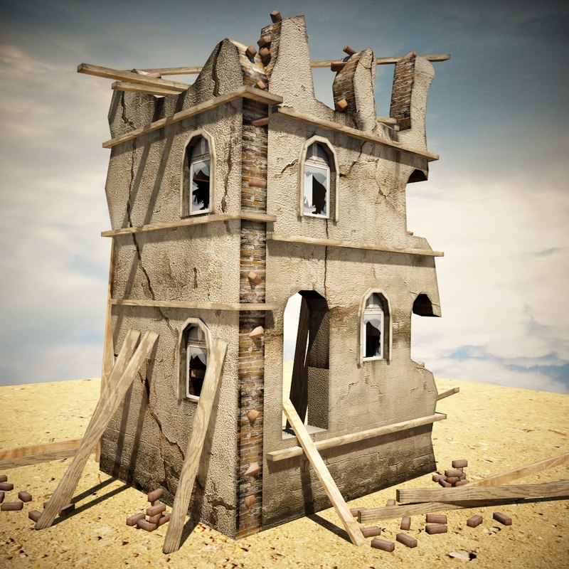 3d destroyed house games