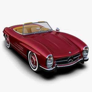 3d obj mercedes-benz 300sl roadster