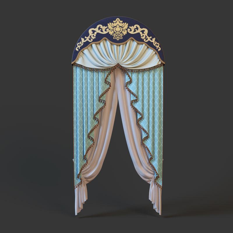 3d obj curtain